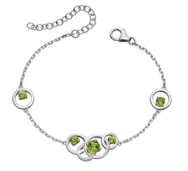 Round Green Peridot Bracelet