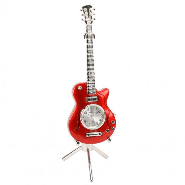 Miniature Clock - Red Guitar