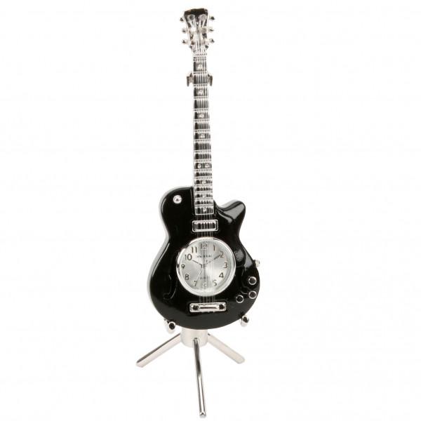Miniature Clock - Black Guitar