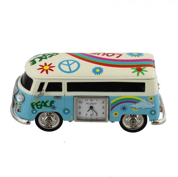 Miniature Clock - Blue Camper Van