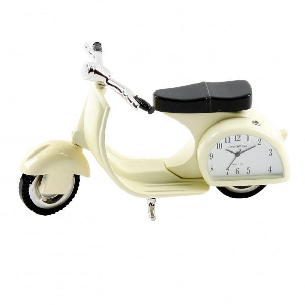 Miniature Clock - Cream Vespa