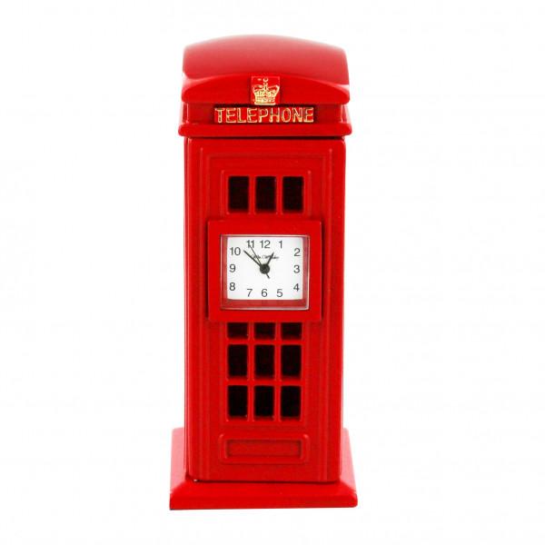 Miniature Clock - Red Telephone Box