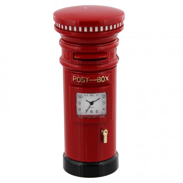 Miniature Clock - Red Post Box